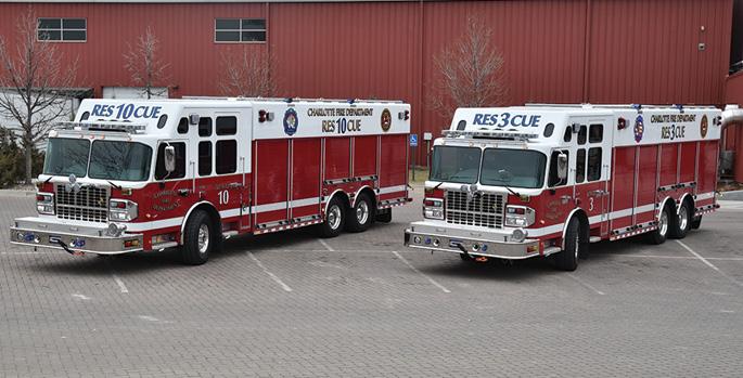 SVI Trucks—Charlotte (NC) Fire Department heavy rescue units