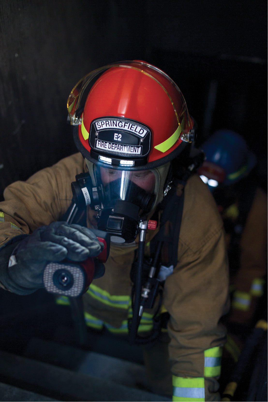 Using a TI gives firefighters back their sense of sight when on the fire scene.(Photo courtesy of Bullard.)
