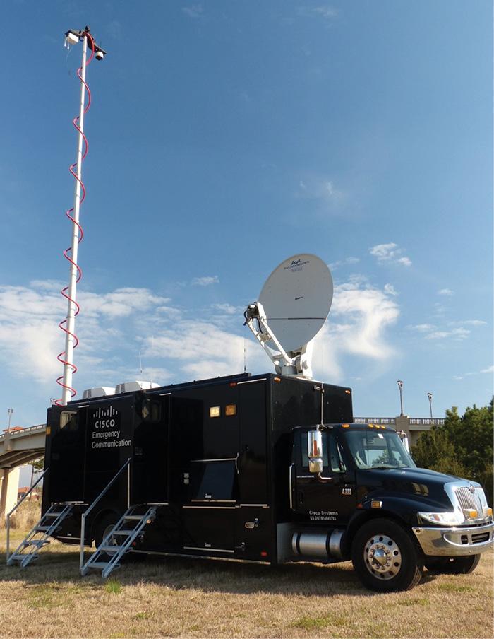 The Cisco TacOps NERV fully operational. (Photos courtesy of Cisco.)