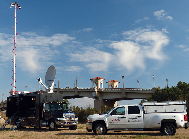 The Cisco NERV and supporting utility pickup.