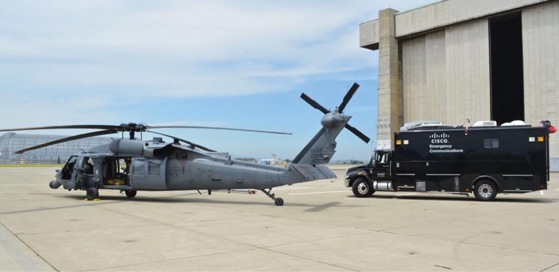 The Cisco NERV next to a USAF HH-60.