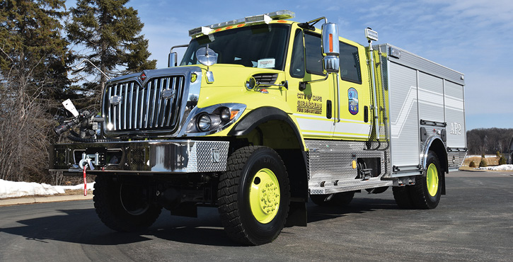 Cape Girardeau (MO) Regional Airport had Rosenbauer build its Airwolf C3 ARFF truck on an International Navistar HV507 chassis with a 2-1/2 AGE Darley 300-gpm pump, 500 gallons of water, 60 gallons of foam, and a 500-pound dry chemical tank.
