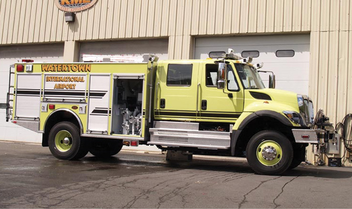 KME built this KME FORCE Class 3 RIV on an International chassis for the Watertown (NY) International Airport. (Photos 8-9 courtesy of KME.)