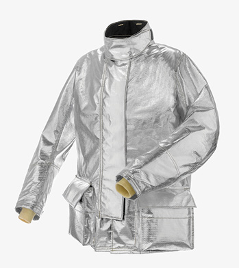 The B1 proximity coat made by Lakeland Industries Inc. features an aluminized PBI outer shell, a three-body panel design for increased range of motion, and ergonomically curved sleeves. (Photos 4-5 courtesy of Lakeland Industries Inc.)