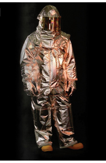 Veridian Fire Protective Gear makes the Vector model of proximity gear in a traditional three-layer style with an aluminized PBI/Kevlar knit outer shell. (Photos 6-7 courtesy of Veridian Fire Protective Gear.)