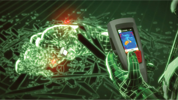The MSA LUNAR system includes person-to-person ranging, which can be used by firefighters to find each other using distance and direction data and even locate a down firefighter.