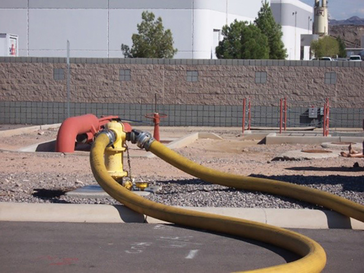 Using the 2½-inch hydrant port along with the steamer port only provides approximately 500 more gpm in most cases.