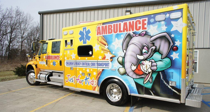 AEV built this pediatric critical care ambulance for Mercy Children's Hospital St. Louis (MO). (Photos 3-10 courtesy of REV Ambulance Group.)