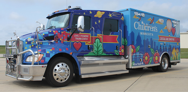 Life Line Emergency Vehicles built this pediatric trauma center ambulance on a Kenworth chassis for Children's Minnesota (MN). (Photos 11-16 courtesy of Life Line Emergency Vehicles.)