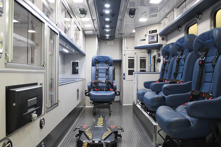 The interior of the Children's Minnesota pediatric trauma center ambulance.