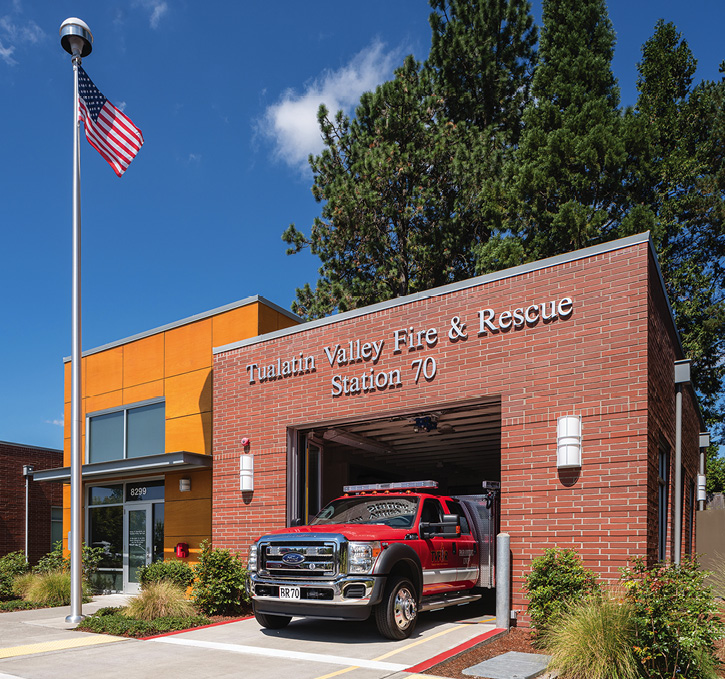 This micro EMS station was designed by Mackenzie Architecture for Tualatin Valley (OR) Fire & Rescue. (Photo courtesy of Mackenzie Architecture.)