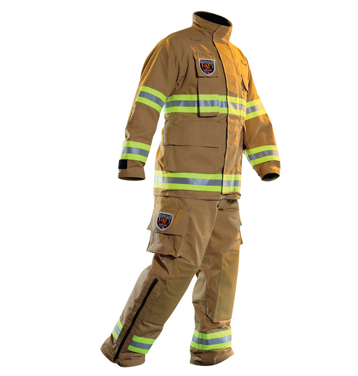 Fire-Dex's USAR gear uses TECGEN51 for the outer shell and CROSSTECH EMS fabric as a moisture barrier to protect against penetration by blood, bodily fluids, and water.