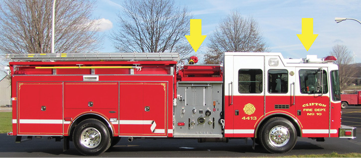 The 1998 and 2010 apparatus. Telescoping flood lights provided on the 1998 rig were replaced by a light tower in 2010. A deck gun on the 2010 model was discontinued in 2019. (Photos 2-3 courtesy of Frank Riccobono, Firehouse Fire Apparatus.)