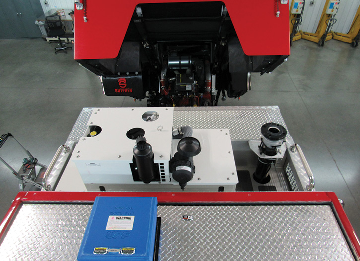 Sutphen Corp. installed Harrison Hydra-Gen APUs on two pumpers it built for the Durham (NC) Fire Department.