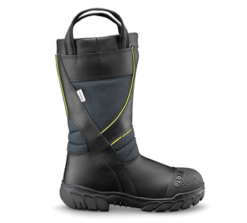 The Globe Supralite® leather structural fire boot is a 14-inch-high model made on an athletic style.