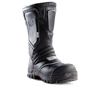 Lion and Thorogood have a partnership that produces the QR14 leather structural fire boot, which was introduced at FDIC International 2019. (Photos 6-7 courtesy of Lion.)