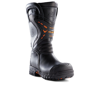 Thorogood also makes the Knockdown Elite leather structural boot, a 14-inch pull-on model with a StedAir® PTFE waterproof barrier.