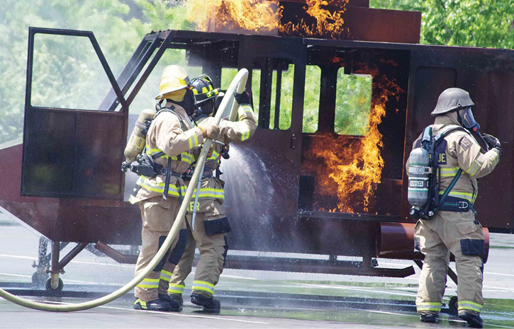 Firefighters do live fire training wearing HAIX Fire Hunter Extreme® leather structural boots. (Photos 8-9 courtesy of HAIX North America Inc.)