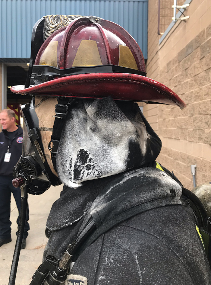 First Responder Decon developed the Official Rehnke Decon Kit that uses TruDecon compound to encapsulate contaminants, remove them, and detoxify them to make them inert. (Photos 4-5 courtesy of First Responder Decon.)