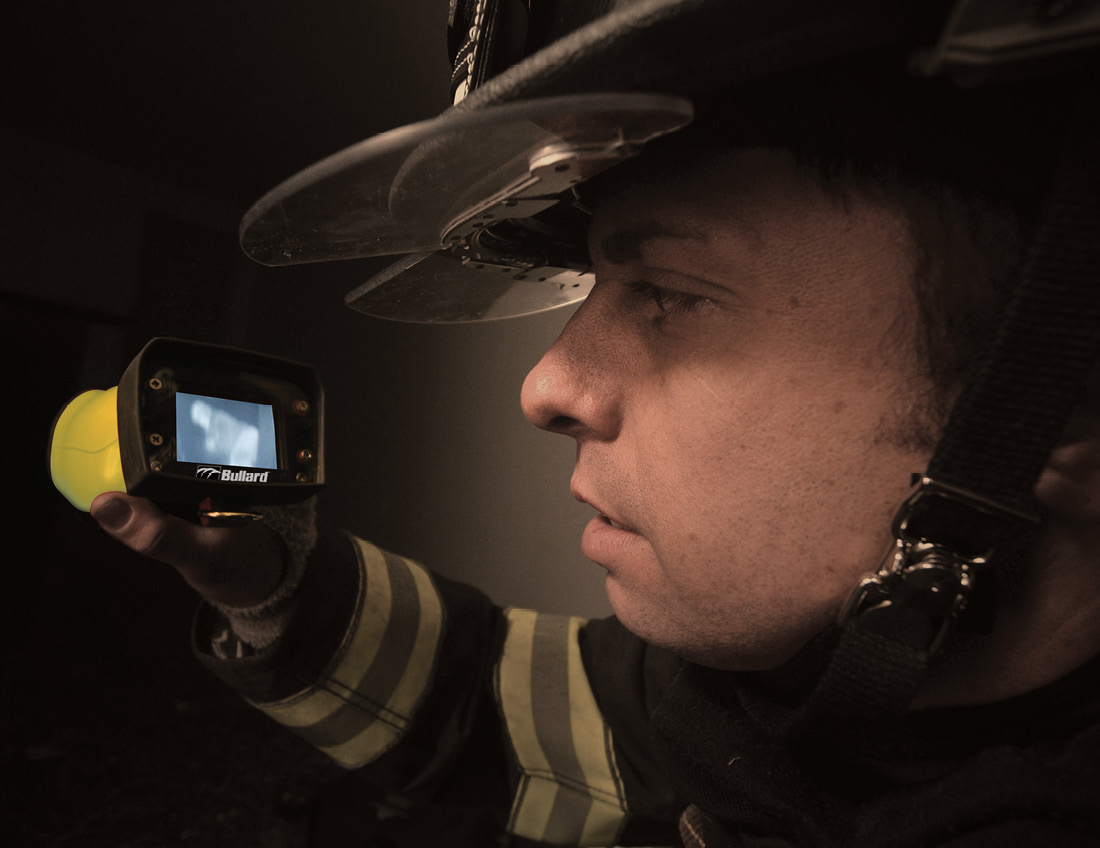 Firefighters need to understand how a thermal imager interprets heat signatures to successfully use this life-saving tool. (Photo courtesy of Bullard.)