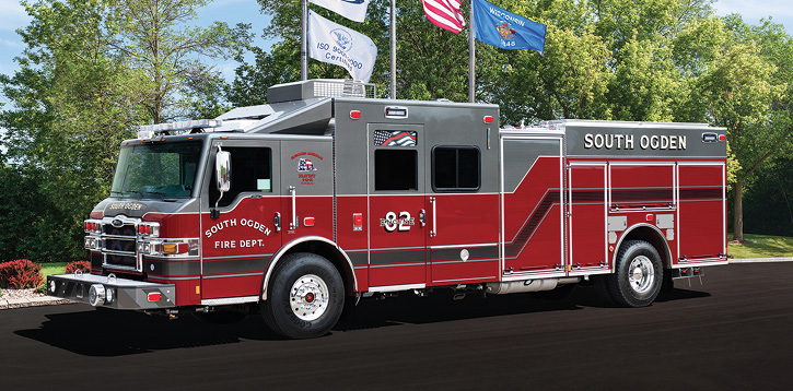 The South Ogden (UT) Pierce ambulance/pumper built on a Pierce Velocity chassis with aluminum cab and body. (Photo courtesy of Pierce Manufacturing.)
