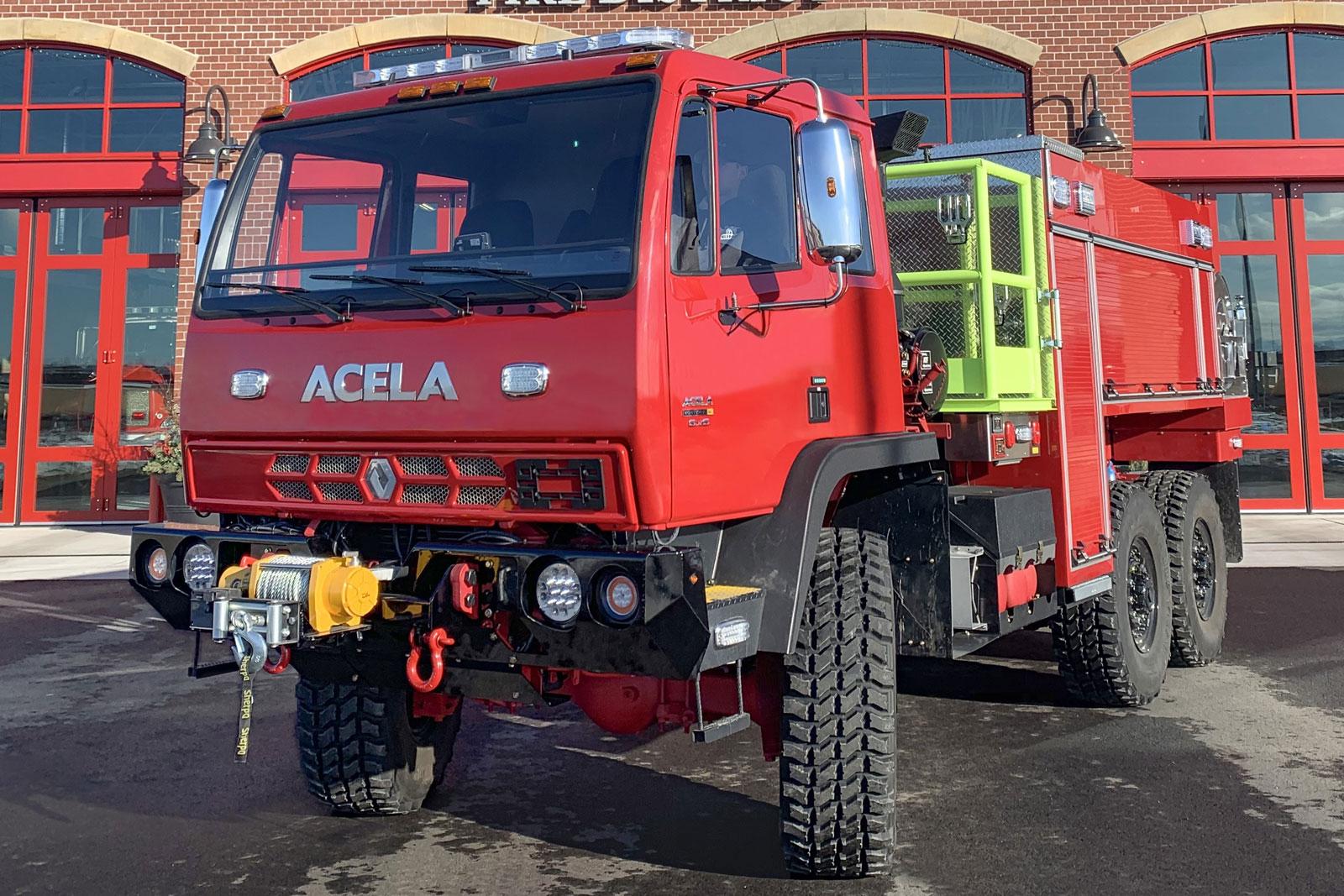 Acela WUI fire truck