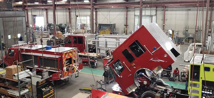 The Ferrara Fire Apparatus open house began with a tour of the facility. (Photos by Corbin Fowler.)