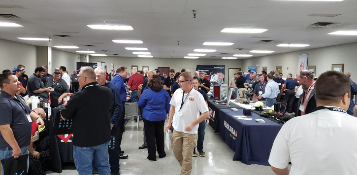 The day also featured a host of vendor displays that attendees could visit to learn about the newest fire service products.