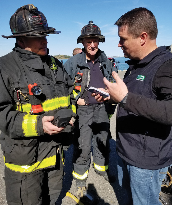 Every firefighter received one-on-one instruction on how to use the LUNAR devices before they entered the burn building. (Photos by author unless otherwise noted.)