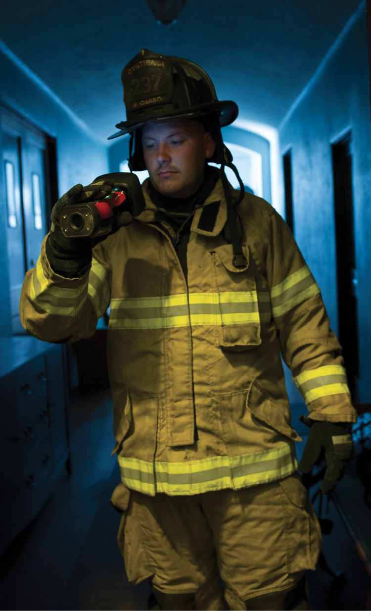 Thermal imaging training can happen anywhere, even in your fire station, with a little creativity. (Photo courtesy of Bullard.)