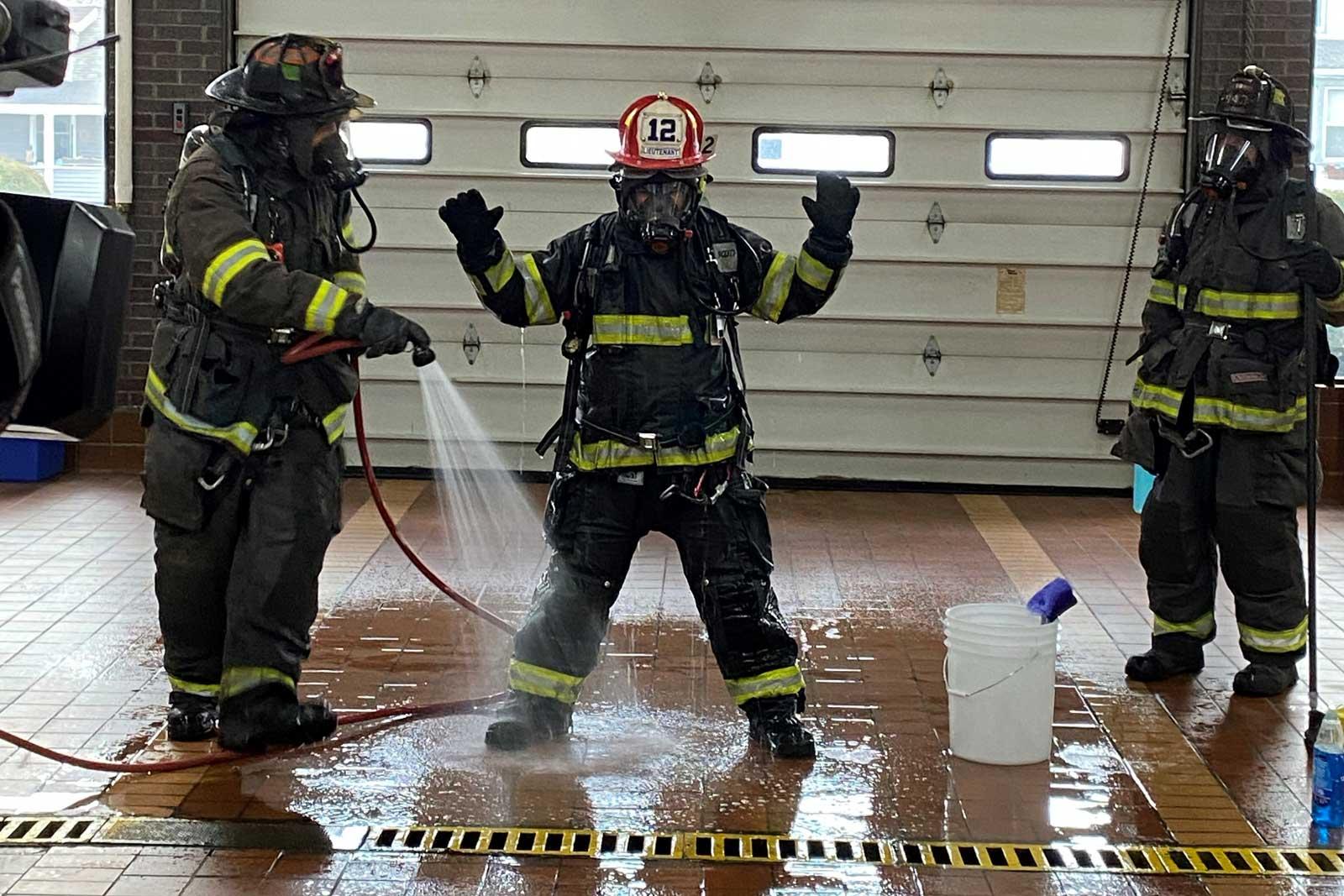 Firefighter decon procedures