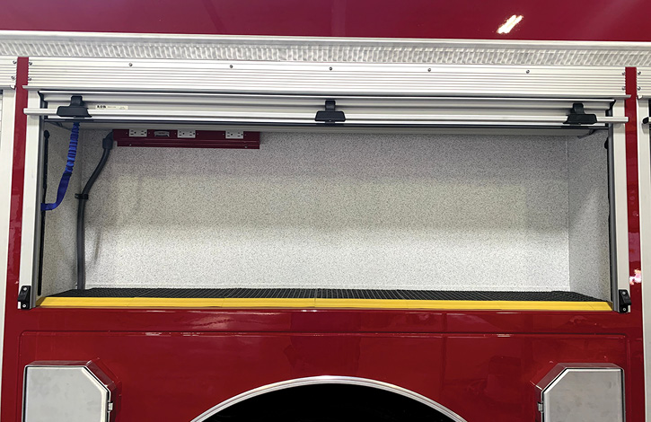 Danko applies Line-X coating inside compartments when customers request it.