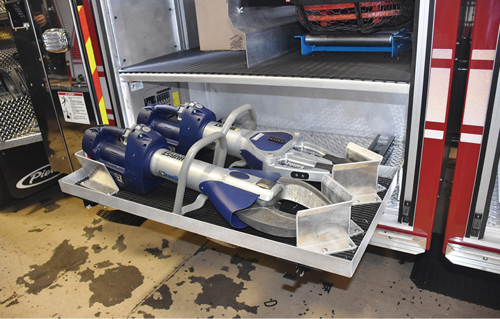 The TDA's HURST Jaws of Life eDRAULIC tools for extrication work.
