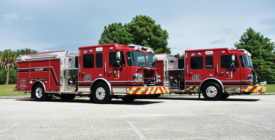 Spartan ER—Johnson County ESD #1, TX, pumpers (2). Metro Star cabs and chassis; Cummins L9 450-hp engines; Waterous CSU 1,500-gpm pumps; Pro Poly 1,000-gallon polypropylene water tanks; 30-gallon foam cells; FoamPro 1600 Class A foam systems; TFT Hurricane monitors. Dealer: Josh Slovak, Metro Fire Apparatus Specialists, Houston, TX.
