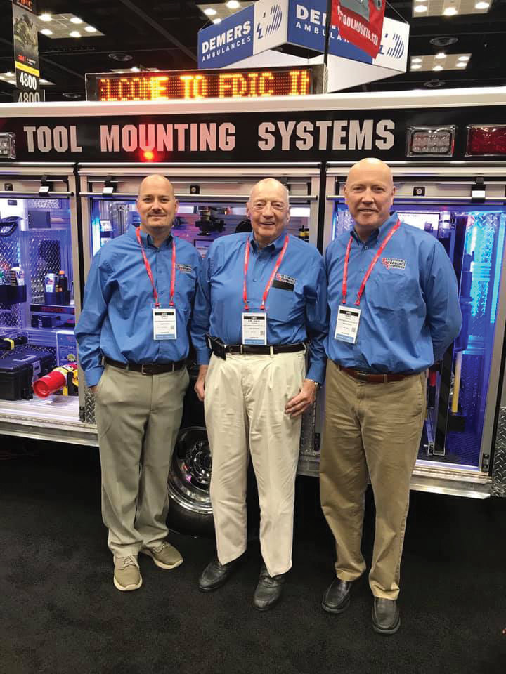 Performance Advantage Company has three generations of Youngs working for the business. From left to right are Greg Young, vice president and grandson of the founder Dick Young, who is center. Kris Young, the founder's son, right, joined the company in 2019 as a quality assurance manager. (Photos courtesy of Performance Advantage Company.)