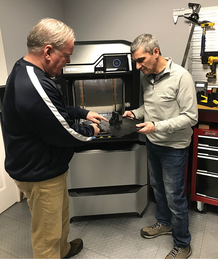 Three-dimensional printers at Performance Advantage Company give the business the ability to quickly develop new product prototypes. They represent a significant investment in technology and the company's future.