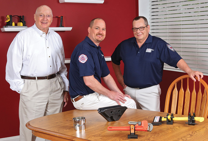 Jim Everett, shown to the right of Dick and Greg Young, is the president of Performance Advantage Company. He has worked for the company for nearly 20 years.