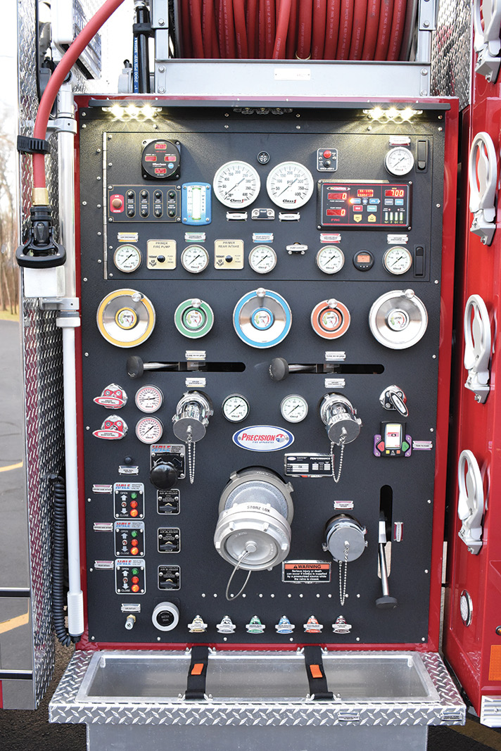 For the Narberth (PA) Fire Department, Precision built a custom pumper with a Hale 1,500-gpm main pump and a Hale HP 60-gpm-at-500-pounds-per-square-inch (psi) high-pressure pump.