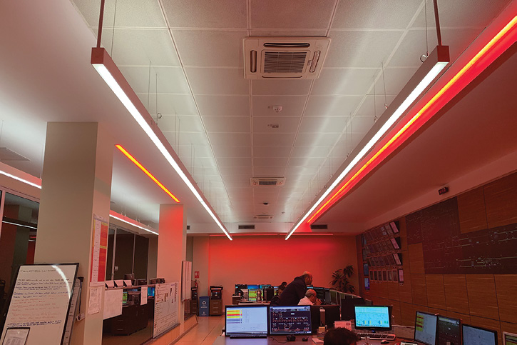RPI's Lighting Research Center found that red lighting in offices helped prevent the suppression of melatonin, a hormone that regulates the body's sleep-wake cycle.