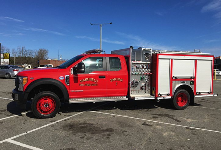 A typical New England mini pumper is this foam-equipped E-ONE on a Ford F-550 chassis that went to Fairfield, Vermont. It has a Hale 750-gpm pump and carries 330 gallons of water.