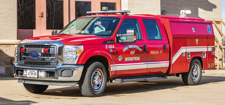 Memphis (TN) Fire Services runs 12 ARVs to EMS calls instead of an engine or a truck. The ARVs are built on Ford F-350 crew cab pickup trucks.