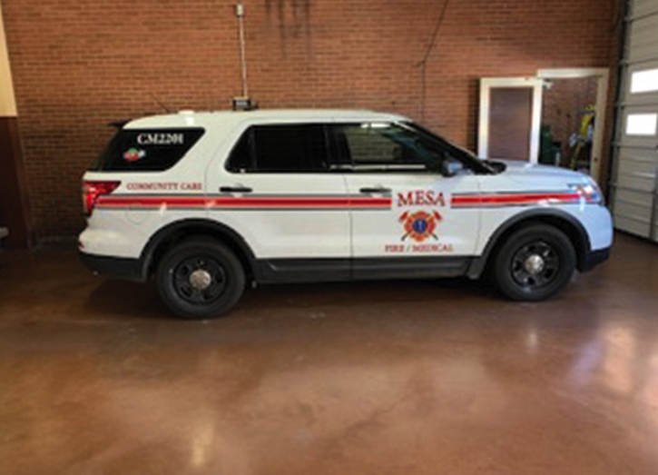 Mesa (AZ) Fire and Medical Department runs a CCU vehicle built on a Dodge 4500 chassis to low-acuity EMS calls.