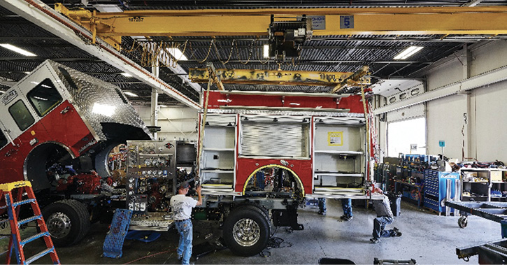 Brandon, South Dakota, is the home of Spartan ER, acquired by the REV Fire Group in February.