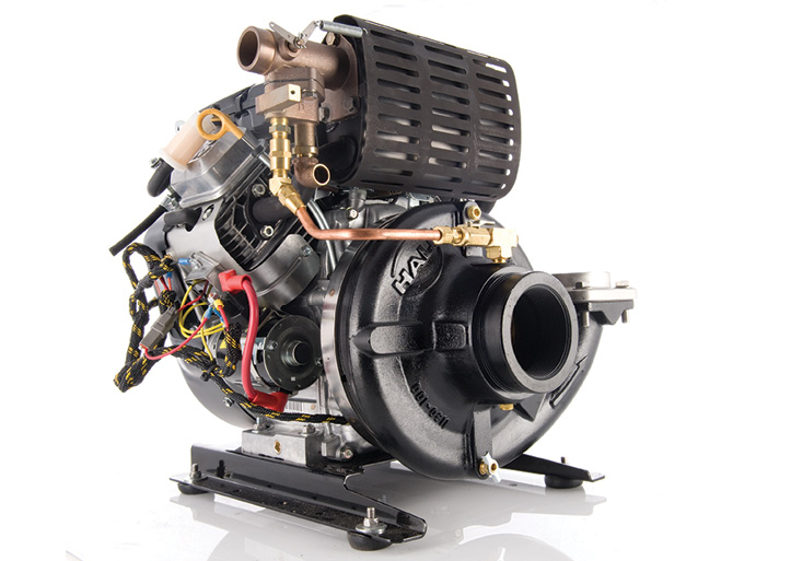 The Hale Products HPX200 pump powered by a Briggs & Stratton 18-hp gasoline engine often can be found on Type 5 and Type 6 wildland engines.