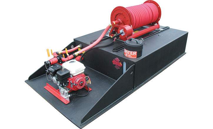 CET Fire Pumps makes the PFP HND-M-Twin 6-hp pump with twin impellers that delivers 20 gpm at 125 psi.