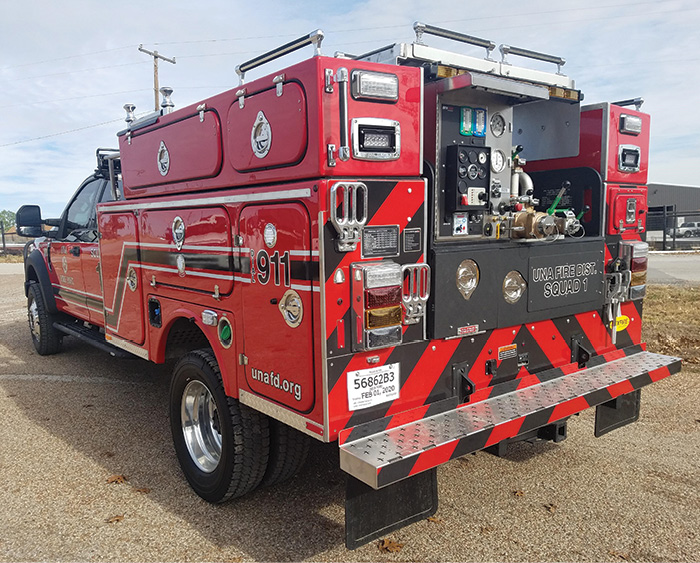 For the Una (SC) Fire Department, BFX Fire Apparatus built a Type 6 engine with a 24.8-hp Kubota diesel-driven WATERAX BB-4 pump that delivers 120 gpm at 100 psi.