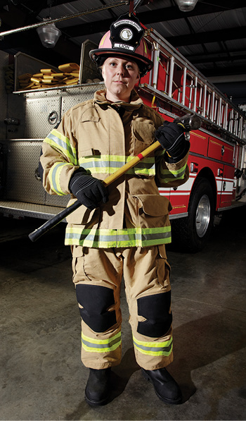 ion has a variety of patterns tailored for women in its V-Force™ and other lines of structural turnout gear.
