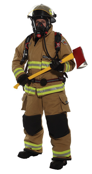 ire-Dex makes FXR structural turnout gear available in a women's design that allows better ergonomics.