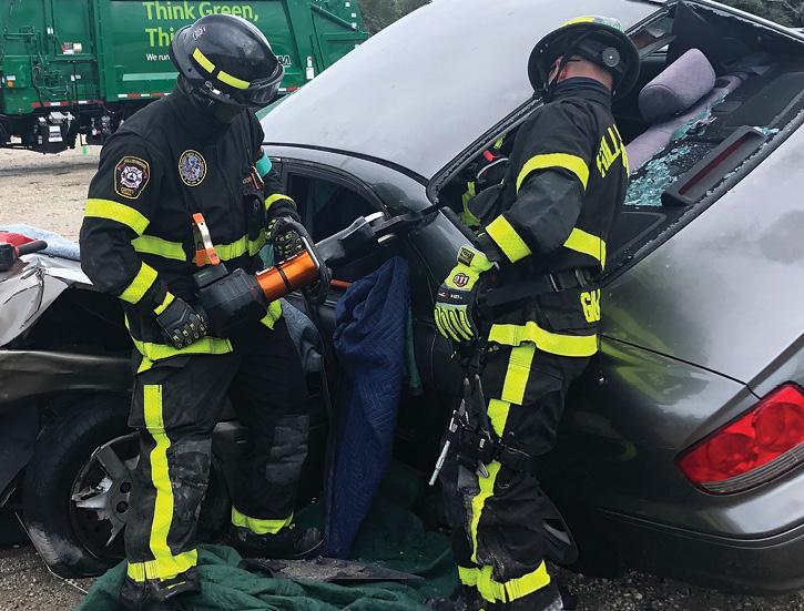 Hillsborough County (FL) Fire Rescue firefighters put a Holmatro CU 4007 cutter through its paces.