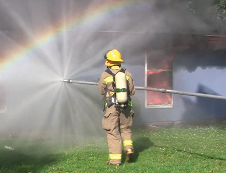 The American Fire Equipment Company Torpedo Nozzle A360N flows 200 gpm and reaches up to a 20-foot radius.